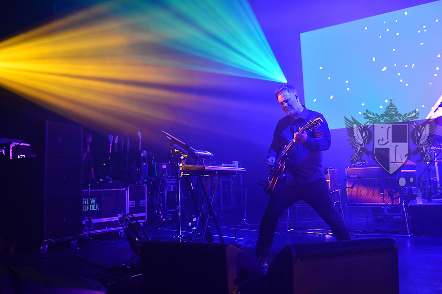 MIAMI BEACH, FLORIDA - JANUARY 18: Phil Cunningham of New Order perform on stage at the Fillmore Miami Beach at the Jackie Gleason Theater on January 18, 2020 in Miami Beach, Florida.  ( Photo by Johnny Louis / jlnphotography.com )