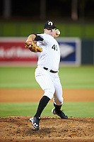 Glendale Desert Dogs pitcher Brian Clark (45), of the Chicago White Sox organization, during a game against the Salt River Rafters on October 19, 2016 at Camelback Ranch in Glendale, Arizona.  Salt River defeated Glendale 4-2.  (Mike Janes/Four Seam Images)