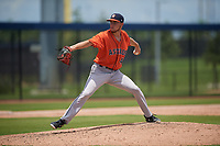 GCL Astros pitcher Kevin Dickey (47) during a Gulf Coast League game against the GCL Nationals on August 9, 2019 at FITTEAM Ballpark of the Palm Beaches training complex in Palm Beach, Florida.  GCL Nationals defeated the GCL Astros 8-2.  (Mike Janes/Four Seam Images)