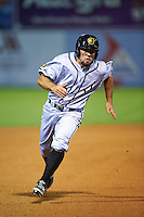 Jacksonville Suns third baseman Zack Cox (20) running the bases during a game against the Chattanooga Lookouts on April 30, 2015 at AT&T Field in Chattanooga, Tennessee.  Jacksonville defeated Chattanooga 6-4.  (Mike Janes/Four Seam Images)