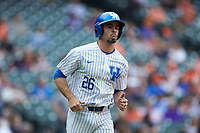 Luke Heyer (26) of the Kentucky Wildcats hustles down the first base line against the Sam Houston State Bearkats during game four of the 2018 Shriners Hospitals for Children College Classic at Minute Maid Park on March 3, 2018 in Houston, Texas. The Wildcats defeated the Bearkats 7-2.  (Brian Westerholt/Four Seam Images)