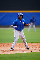 Toronto Blue Jays Vladimir Guerrero Jr (27) during a minor league Spring Training intrasquad game on March 26, 2016 at Englebert Complex in Dunedin, Florida.  (Mike Janes/Four Seam Images)