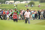 Jose Maria Olazabal and caddie march up to the 14th green during the 2nd round of the ISPS Handa Wales Open 2012..01.06.12.©Steve Pope