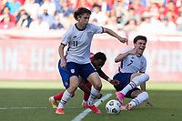 SANDY, UT - JUNE 10: Brenden Aaronson #11 of the United States during a game between Costa Rica and USMNT at Rio Tinto Stadium on June 10, 2021 in Sandy, Utah.