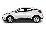 Car Driver side profile view of a 2020 Toyota C-HR LE 5 Door SUV Side View
