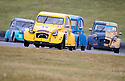 18/08/19<br /> <br /> With the leaders approaching 600 laps and with five hours still to race, a rain shower makes conditions very slippery for all competitors.<br /> <br /> In a true battle of the European little guys, Citroen 2CVs are joined by a handful of minis at Snetterton race circuit in Norfolk for the Classic 2CV Racing Club's annual 24 hour  race. <br /> <br /> Thirty cars, each with teams of three or four drivers, began their epic Le Mans-style endurance race at 5pm on Saturday. Teams from across Europe, many with modified cars  took part in what might be one of the slowest endurance races there is.<br /> <br /> <br /> All Rights Reserved: F Stop Press Ltd. +44(0)1335 418365   +44 (0)7765 242650 www.fstoppress.com