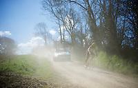 Rob Ruijgh (NLD/Crelan-Vastgoedservice) flying through the dust<br /> <br /> 33th Tro Bro Léon 2016