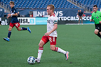 FOXBOROUGH, MA - JUNE 26: Derek Waldeck #18 of North Texas SC during a game between North Texas SC and New England Revolution II at Gillette Stadium on June 26, 2021 in Foxborough, Massachusetts.