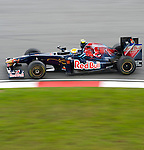 03 Apr 2009, Kuala Lumpur, Malaysia ---     Scuderia Toro Rosso driver Sebastien Buemi of Switzerland in the second practice session ahead the 2009 Fia Formula One Malasyan Grand Prix at the Sepang circuit near Kuala Lumpur. Photo by Victor Fraile --- Image by © Victor Fraile / The Power of Sport Images