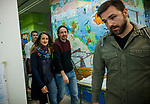 Leader of Podemos and candidate for general elections Pablo Iglesias casts his vote during General Elections at a polling station. April 28,2019. (ALTERPHOTOS/Baldesca Samper)