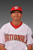 14 March 2008: ..Portrait of Alexis Morales, Washington Nationals Minor League player at Spring Training Camp 2008..Mandatory Photo Credit: Ed Wolfstein Photo