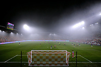 9th January 2021; Brentford Community Stadium, London, England; English FA Cup Football, Brentford FC versus Middlesbrough; Heavy thick fog covers the Brentford Community Stadium during the 2nd half