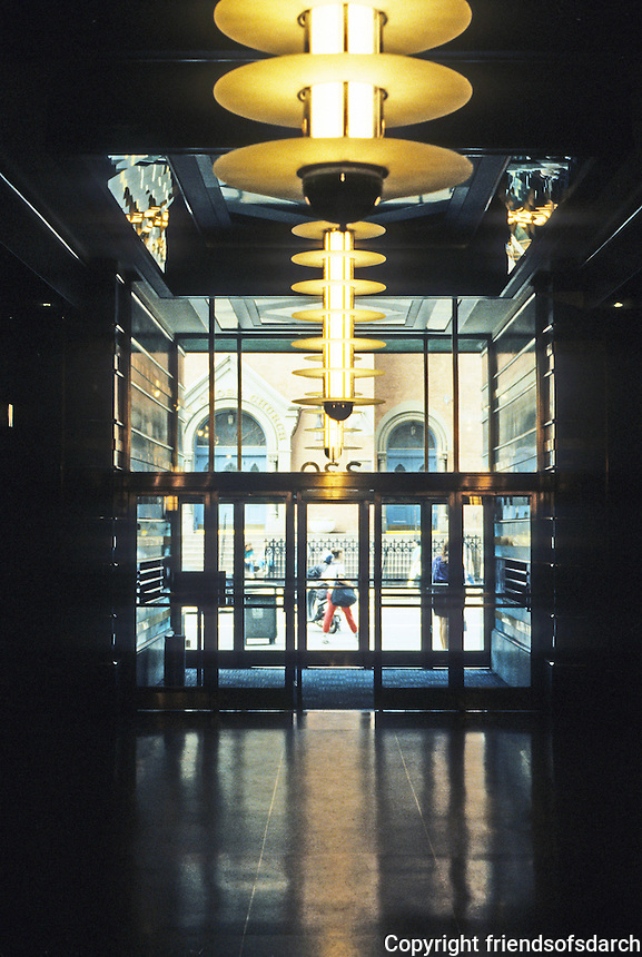New York:  McGraw-Hill Building--Lobby. Raymond Hood, architect. Photo '91.