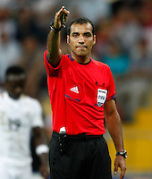Referee's Nawaf Shukralla (2ndR) during their FIFA U-20 World Cup Turkey 2013 Group Stage Group A soccer match Ghana betwen USA at the Kadir Has stadium in Kayseri on June 27, 2013. Photo by Aykut AKICI/isiphotos.com