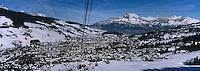 Europe/France/Rhone-Alpes/74/Haute-Savoie/Megève: le telepherique de Rochebrune et la station