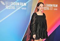 """Iazua Larios at the 65th BFI London Film Festival """"Sundown"""" UK premiere, BFI Southbank, Belvedere Road, on Saturday 09th October 2021, in London, England, UK. <br /> CAP/CAN<br /> ©CAN/Capital Pictures"""
