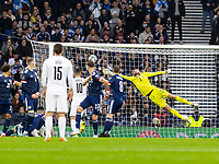 9th October 2021; Hampden Park, Glasgow, Scotland; FIFA World Cup football qualification, Scotland versus Israel; Eran Zahavi of Israel makes it 0-1 to Israel in the 5th minute from a direct free kick past keeper Gordon