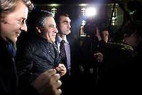 FRANCOIS FILLON ET FRANCOIS BAROIN VISITENT LA MEDIATHEQUE DE LA VILLE A TROYES, LE 7 FEVRIER 2017.