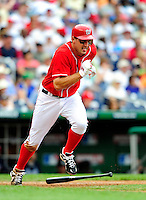 5 July 2009: Washington Nationals' third baseman Ryan Zimmerman, named to the NL All-Star team, in action against the Atlanta Braves at Nationals Park in Washington, DC. The Nationals defeated the Braves 5-3 to take the rubber game of their 3-game weekend series. Mandatory Credit: Ed Wolfstein Photo