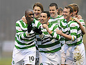 12/12/2009  Copyright  Pic : James Stewart.sct_jspa09_motherwell v celtic  . :: MARC ANTOINE FORTUNE CELEBRATES WITH TEAM MATES AFTER HE SCORES CELTIC'S WINNING THIRD :: .James Stewart Photography 19 Carronlea Drive, Falkirk. FK2 8DN      Vat Reg No. 607 6932 25.Telephone      : +44 (0)1324 570291 .Mobile              : +44 (0)7721 416997.E-mail  :  jim@jspa.co.uk.If you require further information then contact Jim Stewart on any of the numbers above.........