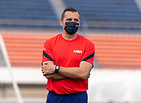 TOKYO, JAPAN - JULY 20: Vlatko Andonovski of the USWNT watches his team during a training session at the practice fields on July 20, 2021 in Tokyo, Japan.
