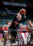 Arinn Young, Tokyo 2020 - Wheelchair Basketball // Basketball en fauteuil roulant. <br /> Canada takes on Great Britain in the preliminary round // Le Canada affronte la Grande-Bretagne au tour préliminaire. 25/08/2021.