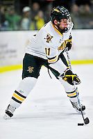 26 November 2010: University of Vermont Catamount forward H.T. Lenz, a Freshman from Vienna, VA, in action against the Northeastern University Huskies at Gutterson Fieldhouse in Burlington, Vermont. The Huskies came back from a 2-0 deficit to earn a 2-2 tie against the Catamounts. Mandatory Credit: Ed Wolfstein Photo