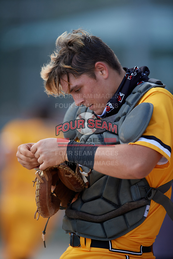 Riley Jackson (24) during the WWBA World Championship at Lee County Player Development Complex on October 9, 2020 in Fort Myers, Florida.  Riley Jackson, a resident of Melbourne, Florida who attends Eau Gallie High School, is committed to Florida State.  (Mike Janes/Four Seam Images)