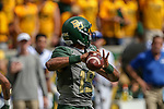 Baylor Bears quarterback Brandon Bass (19) in action before the game between the Duke Blue Devils and the Baylor Bears at the McLane Stadium in Waco, Texas.