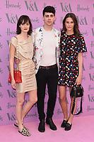 Sam Rollinson, Matt Richardson and Charlotte Wiggins<br /> arriving for the V&A Summer Party 2018, London<br /> <br /> ©Ash Knotek  D3410  20/06/2018