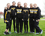 April 11, 2016- Tuscola, IL- The 2017 Tuscola Hornet 7th grade girls track team. From left are Olivia Fulk, Carlie Seip, Mady White, Maddie Stahler, Kyla Gough, and Skylar Wilkins. [Photo: Douglas Cottle]