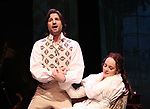 John Cudia and Melissa Errico during a Sneak Peak of the Irish Repertory Theatre Production of  'On A Clear Day You Can See Forever'  at the Irish Repertory Theatre on June 14, 2018 in New York City.