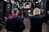 The Wakes Live at SO36.<br /> Here: Sound check with the singer of the german Punkrock Band Slime, Dirk Jora.<br /> 19.12.2015, Berlin<br /> Copyright: Christian-Ditsch.de<br /> [Inhaltsveraendernde Manipulation des Fotos nur nach ausdruecklicher Genehmigung des Fotografen. Vereinbarungen ueber Abtretung von Persoenlichkeitsrechten/Model Release der abgebildeten Person/Personen liegen nicht vor. NO MODEL RELEASE! Nur fuer Redaktionelle Zwecke. Don't publish without copyright Christian-Ditsch.de, Veroeffentlichung nur mit Fotografennennung, sowie gegen Honorar, MwSt. und Beleg. Konto: I N G - D i B a, IBAN DE58500105175400192269, BIC INGDDEFFXXX, Kontakt: post@christian-ditsch.de<br /> Bei der Bearbeitung der Dateiinformationen darf die Urheberkennzeichnung in den EXIF- und  IPTC-Daten nicht entfernt werden, diese sind in digitalen Medien nach §95c UrhG rechtlich geschuetzt. Der Urhebervermerk wird gemaess §13 UrhG verlangt.]