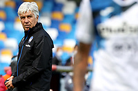 Gian Piero Gasperini of Atalanta BC  reacts during the Serie A football match between SSC Napoli and Atalanta BC at San Paolo stadium in Naples (Italy), October 17th 2020. Photo Cesare Purini / Insidefoto