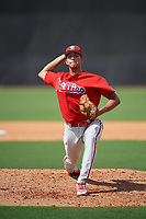 Philadelphia Phillies pitcher Francisco Morales (29) delivers a pitch during a Florida Instructional League game against the New York Yankees on October 11, 2018 at Yankee Complex in Tampa, Florida.  (Mike Janes/Four Seam Images)