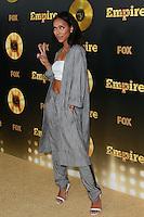 HOLLYWOOD, LOS ANGELES, CA, USA - JANUARY 06: Karrueche Tran at the Los Angeles Premiere Of FOX's 'Empire' held at ArcLight Cinemas Cinerama Dome on January 6, 2015 in Hollywood, Los Angeles, California, United States. (Photo by David Acosta/Celebrity Monitor)