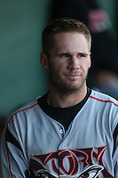 Nick Schulz (25) of the Lake Elsinore Storm before a game against the Lancaster JetHawks at The Hanger on May 9, 2015 in Lancaster, California. Lancaster defeated Lake Elsinore, 3-1. (Larry Goren/Four Seam Images)