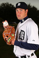 February 27, 2010:  Pitcher Cody Satterwhite (70) of the Detroit Tigers poses for a photo during media day at Joker Marchant Stadium in Lakeland, FL.  Photo By Mike Janes/Four Seam Images