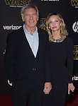 Harrison Ford, Calista Flockhart<br />  at Star Wars: The Force Awakens World Premiere held at El Capitan Theatre in Hollywood, California on December  14,2015                                                                   Copyright 2015Hollywood Press Agency