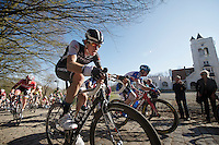 Jesse Sergent (NZL) up the Kemmelberg<br /> <br /> 3 Days of West-Flanders<br /> stage 2: Nieuwpoort - Ichtegem 186km