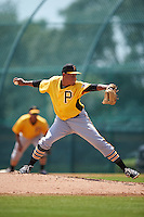 Pittsburgh Pirates pitcher Miguel Rosario (38) during an instructional league intrasquad black and gold game on September 18, 2015 at Pirate City in Bradenton, Florida.  (Mike Janes/Four Seam Images)