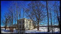 Braun Farm in Westerville Ohio in winter.