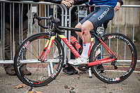 Alessia Patuelli (ITA) after a late crash in the Junior Women road race finish straight made lots of victims and was resposible for lots of (decompression) emotions & injury checkups once behind the line...<br /> <br /> from Doncaster to Harrogate (86km)<br /> 2019 Road World Championships Yorkshire (GBR)<br /> <br /> ©kramon