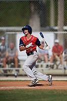 Michael Sorrow during the WWBA World Championship at the Roger Dean Complex on October 20, 2018 in Jupiter, Florida.  Michael Sorrow is a shortstop from Fayetteville, Georgia who attends Woodward Academy.  (Mike Janes/Four Seam Images)