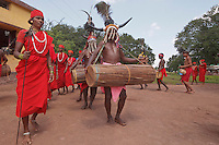 Bison Dancers in Nainanar Chhattisgarh India