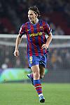 Football Season 2009-2010. Barcelona's player Zlatan Ibrahimovic during their spanish liga soccer match at Camp Nou stadium in Barcelona. January 16, 2010.