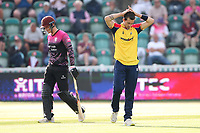 Frustration for Jack Plom of Essex during Somerset vs Essex Eagles, Vitality Blast T20 Cricket at The Cooper Associates County Ground on 9th June 2021