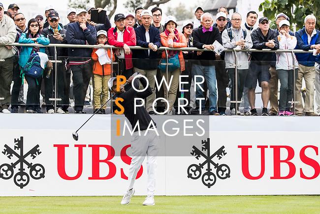 Rashid Khan of India tees off during the day three of UBS Hong Kong Open 2017 at the Hong Kong Golf Club on 25 November 2017, in Hong Kong, Hong Kong. Photo by Yu Chun Christopher Wong / Power Sport Images