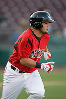 May 19, 2010: Jaff Decker of the Lake Elsinore Storm during game against the Stockton Ports at The Diamond in Lake Elsinore,CA.  Photo by Larry Goren/Four Seam Images