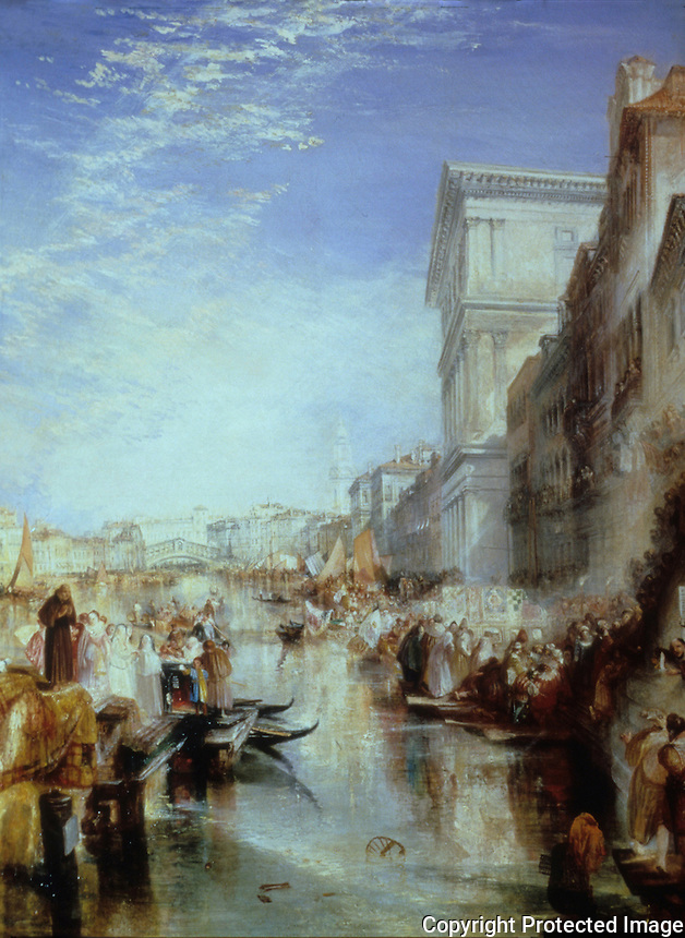 J.M.W. Turner:  Grand Canal, Venice.  Huntington Museum.  Reference only.